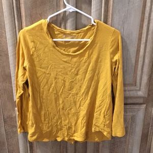 Pretty Mustard Yellow Color Top (Size Medium)